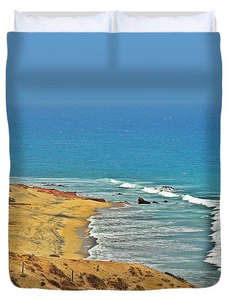 Duvet Cover featuring the photograph Baja California - Desert Meets Ocean by Christine Till