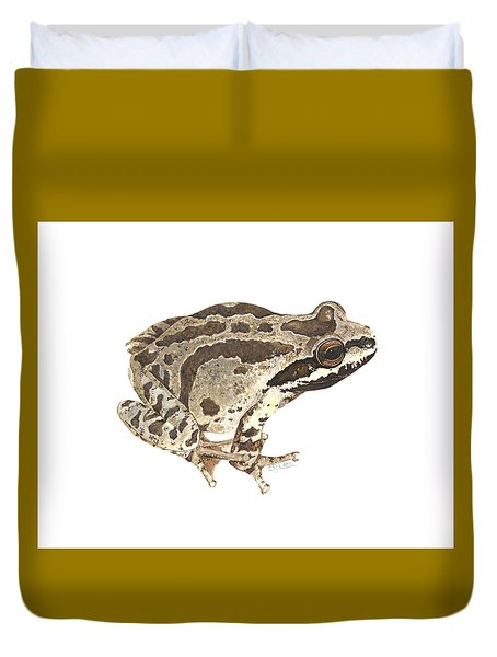 Baja California Treefrog Duvet Cover by Cindy Hitchcock