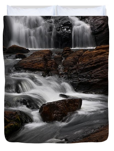 Bakers Fall IIi. Horton Plains National Park. Sri Lanka Duvet Cover by Jenny Rainbow