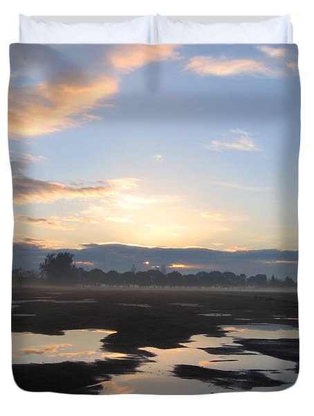 Duvet Cover featuring the photograph Bakersfield Sunrise by Meghan at FireBonnet Art