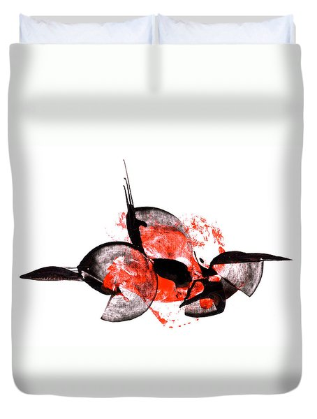 Balance - Modern Abstract Art Painting On Paper Duvet Cover