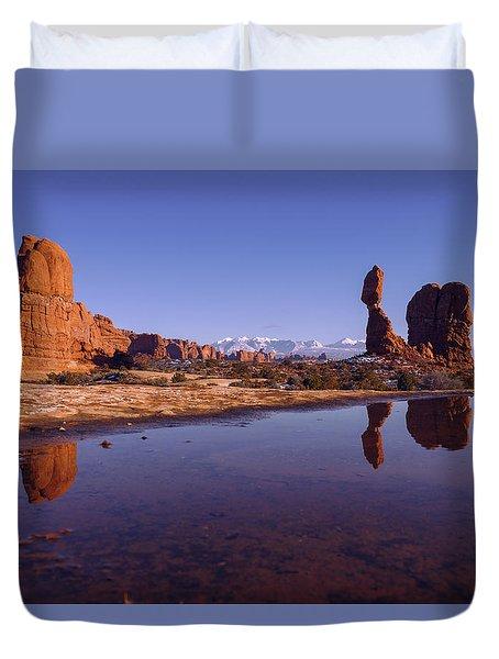 Balanced Reflection Duvet Cover