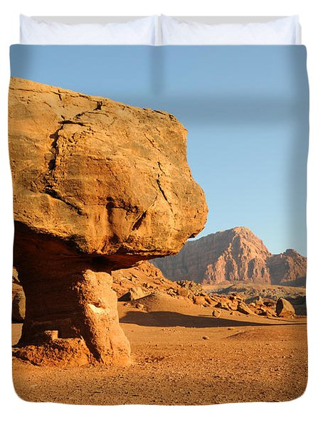 Balanced Rock Below Vermilion Cliffs Duvet Cover
