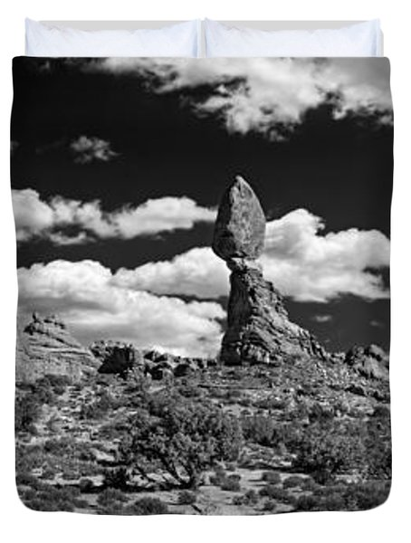 Balanced Rock Duvet Cover by Larry Carr