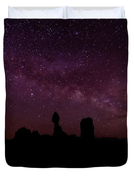 Balancing The Universe Duvet Cover by Silvio Ligutti