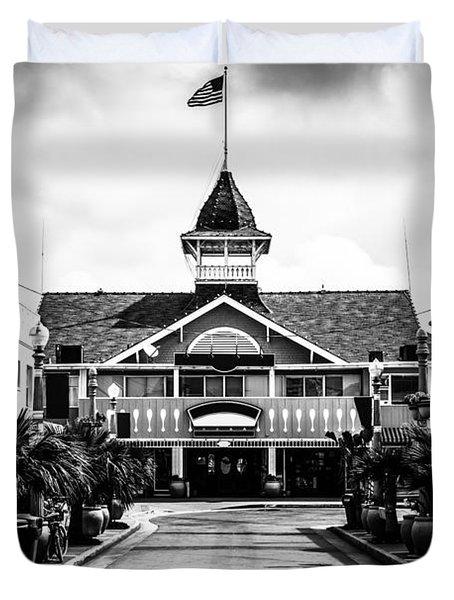 Balboa California Main Street Black And White Picture Duvet Cover by Paul Velgos