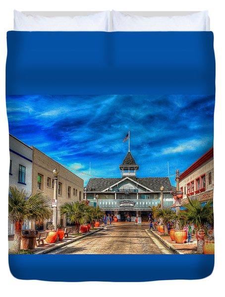 Balboa Pavilion Duvet Cover by Jim Carrell