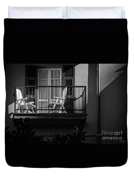 Balcony Bathed In Sunlight Duvet Cover