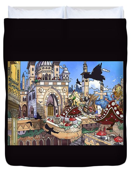 Balcony Of Princess Jasmine Duvet Cover by Reynold Jay