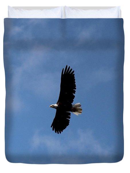 Duvet Cover featuring the photograph Bald Eagle by Ann E Robson