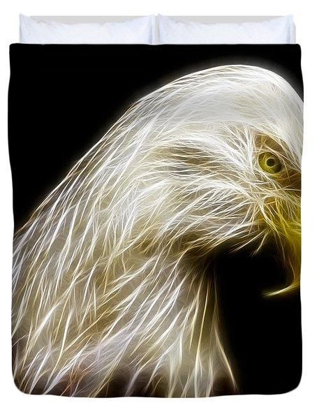 Bald Eagle Fractal Duvet Cover by Adam Romanowicz