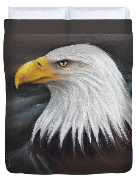 Bald Eagle Duvet Cover by Patricia Lintner