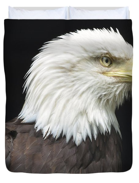 Bald Eagle Profile 2 Duvet Cover by Richard Bryce and Family