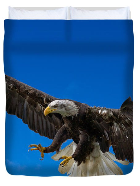 Bald Eagle Duvet Cover by Scott Carruthers