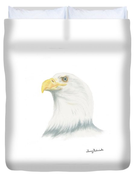 Bald Eagle Duvet Cover by Terry Frederick