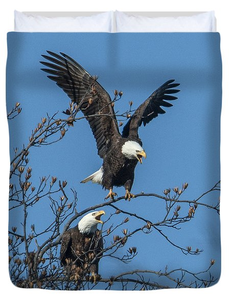 Bald Eagles Screaming Drb169 Duvet Cover