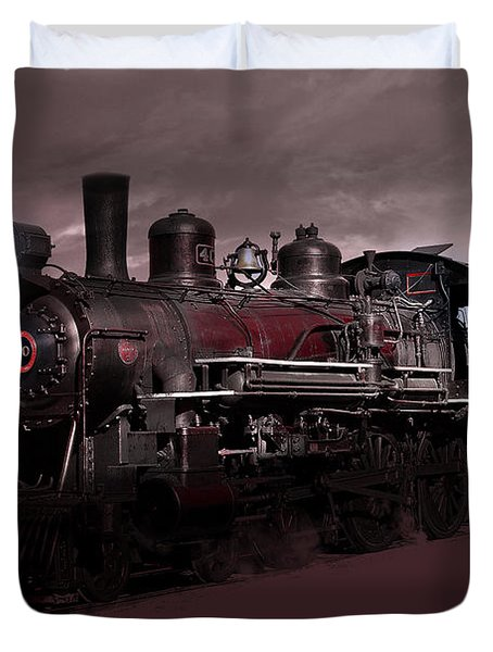 Baldwin 4-6-0 Steam Locomotive Duvet Cover