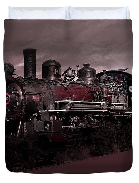 Duvet Cover featuring the photograph Baldwin 4-6-0 Steam Locomotive by Gunter Nezhoda