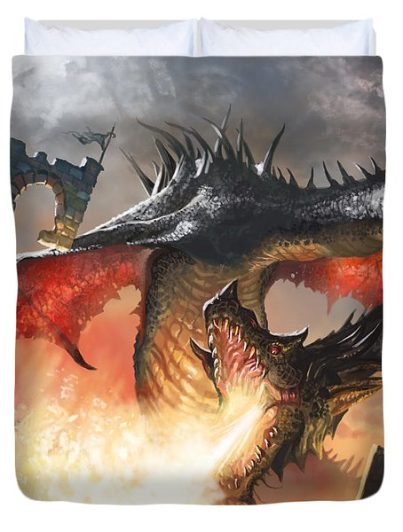 Balerion The Black Duvet Cover by Ryan Barger
