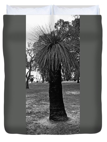 Duvet Cover featuring the photograph Balga Tree by Cassandra Buckley
