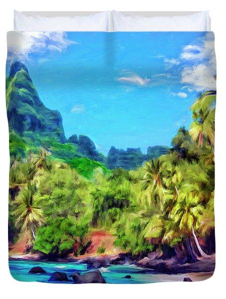 Bali Hai Duvet Cover by Dominic Piperata