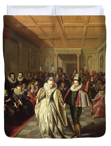Ball At The Court Of Henri IIi On The Occasion Of The Marriage Of Anne, Duke Of Joyeuse Duvet Cover