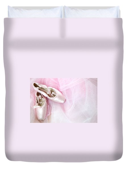 Ballerina Dreams Duvet Cover by Zina Zinchik