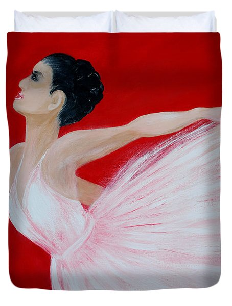 Ballerina.  Grace. Inspirations Collection Duvet Cover
