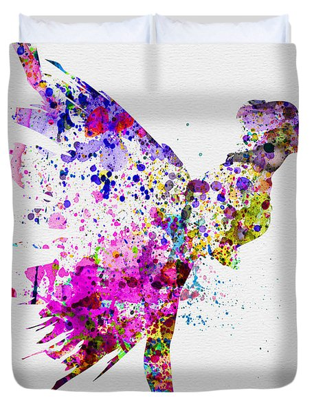 Ballerina On Stage Watercolor 3 Duvet Cover