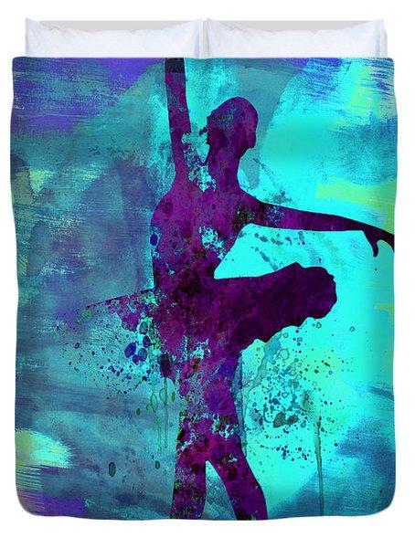 Ballerina Watercolor 4 Duvet Cover
