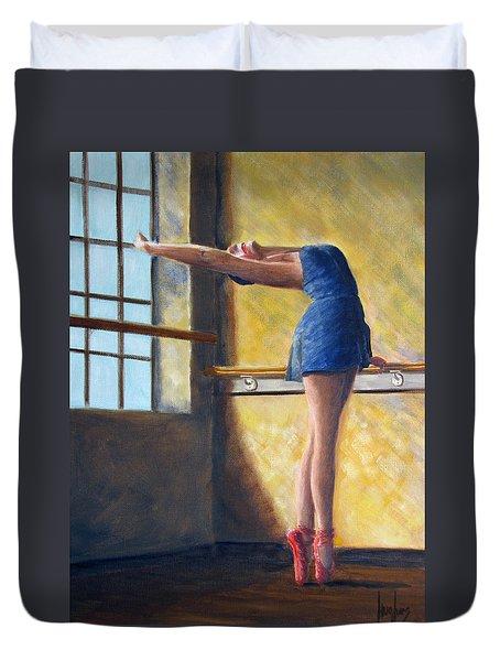 Ballet Dancer Warm Up Duvet Cover