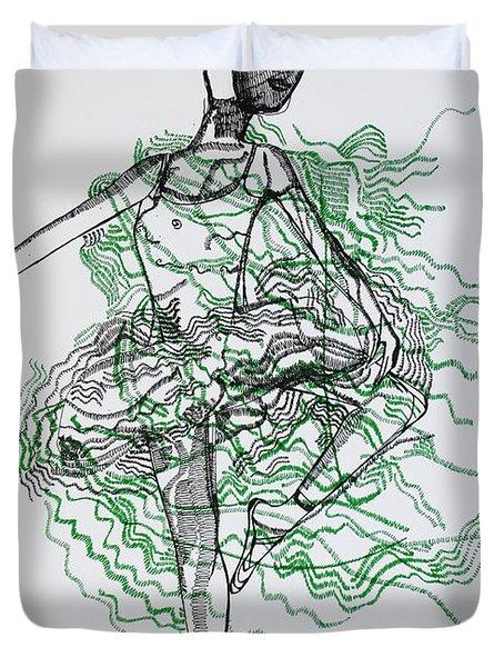 Ballet Duvet Cover by Gloria Ssali
