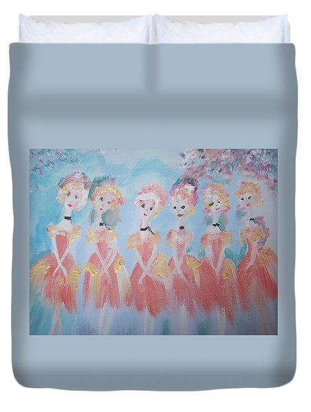Ballet Group Duvet Cover by Judith Desrosiers
