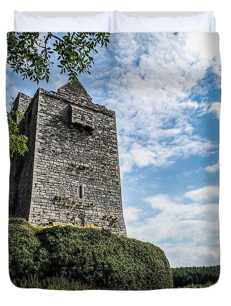 Ballinalacken Castle In Ireland's County Clare Duvet Cover