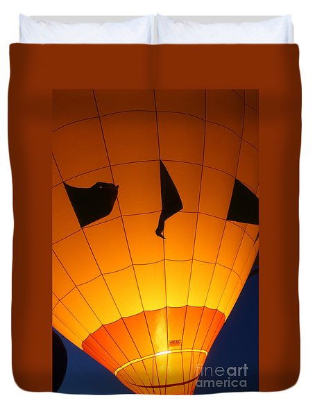 Ballon-glowyellow-7703 Duvet Cover by Gary Gingrich Galleries