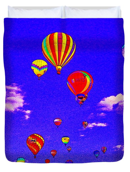 Ballon Race Duvet Cover