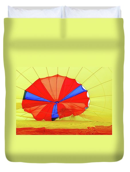 Duvet Cover featuring the photograph Balloon Fantasy   1 by Allen Beatty