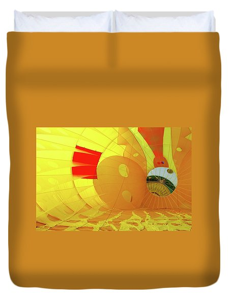 Duvet Cover featuring the photograph Balloon Fantasy 6 by Allen Beatty