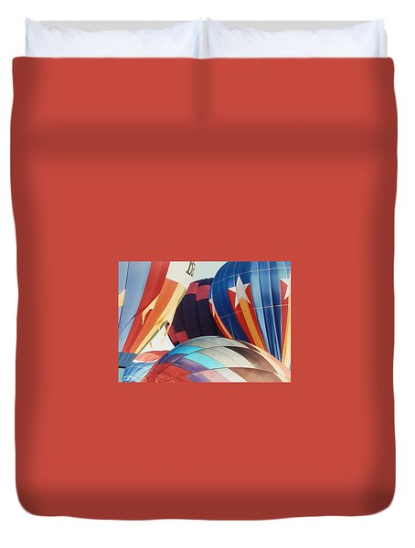 Duvet Cover featuring the photograph Miami Balloon Fesitval by Belinda Lee