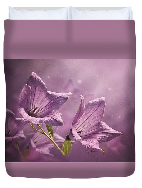 Balloon Flowers Duvet Cover by Ann Lauwers