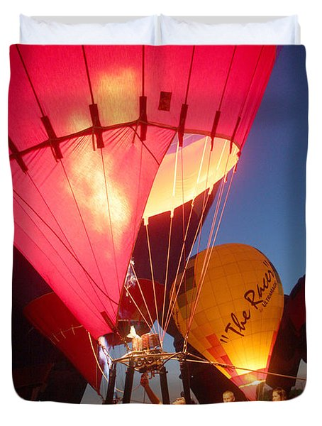 Balloon-glow-7831 Duvet Cover by Gary Gingrich Galleries