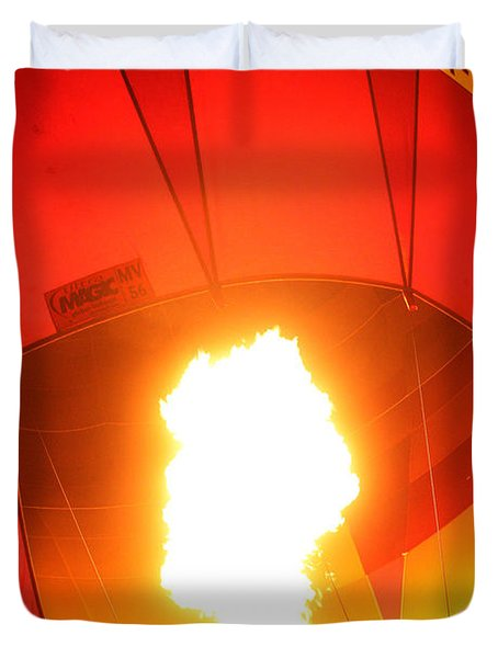 Balloon-glow-7917 Duvet Cover by Gary Gingrich Galleries