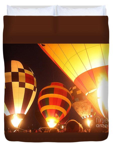 Balloon-glow-7950 Duvet Cover by Gary Gingrich Galleries