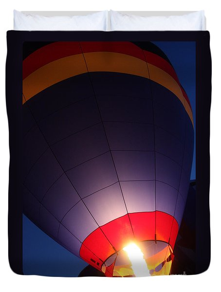 Balloon-glowpurple-7710 Duvet Cover by Gary Gingrich Galleries