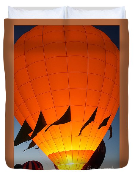 Balloon-glowyellow-7689 Duvet Cover by Gary Gingrich Galleries
