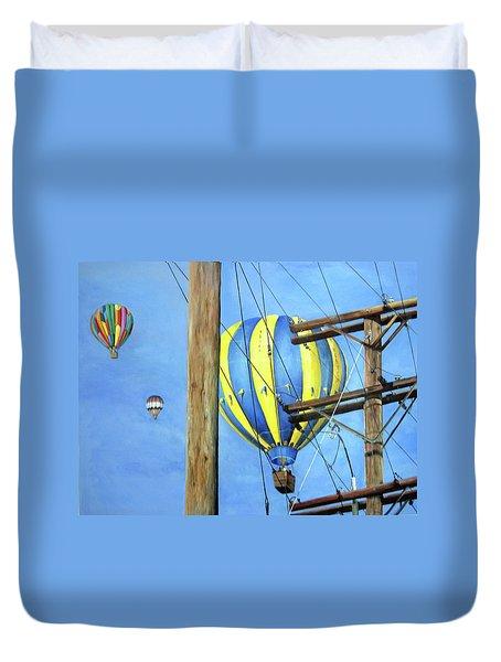 Balloon Race Duvet Cover