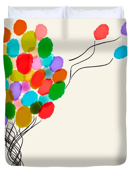 Balloons For Sale Duvet Cover by Anita Lewis