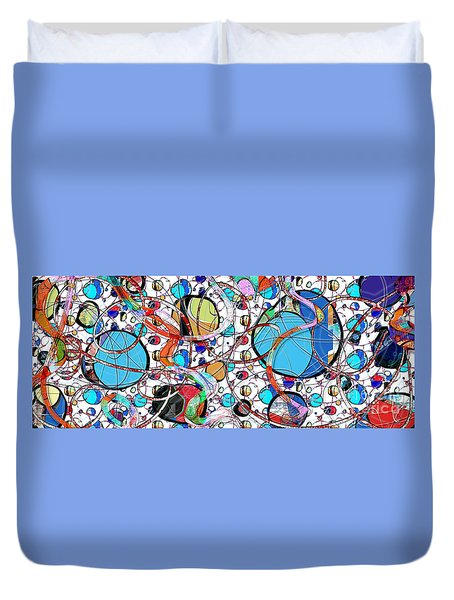 Balloons In Heaven Duvet Cover