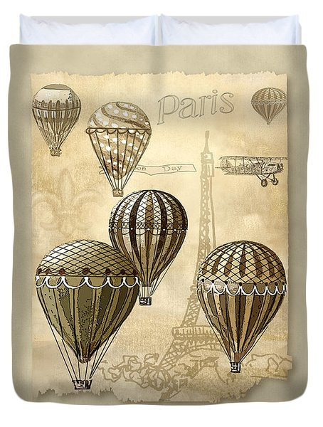 Balloons With Sepia Duvet Cover