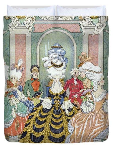 Ballroom Scene Duvet Cover by Georges Barbier